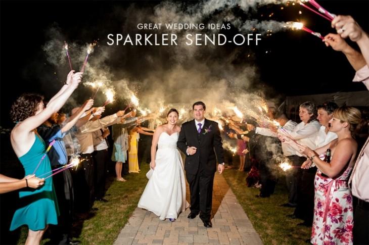 boda con bengalas