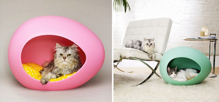 5. Camita para gatos a modo de cascaron de huevos