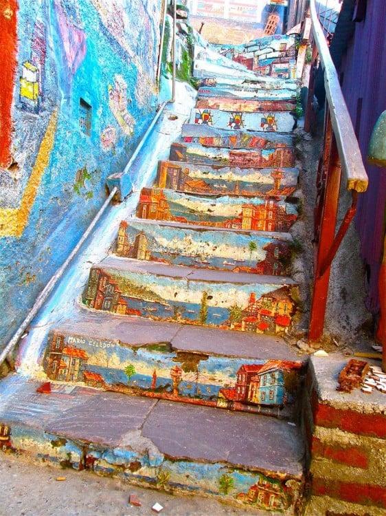 escalera de ciudad