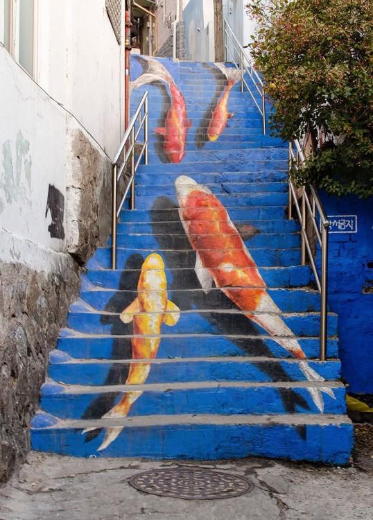 escaleras de peces gigantes