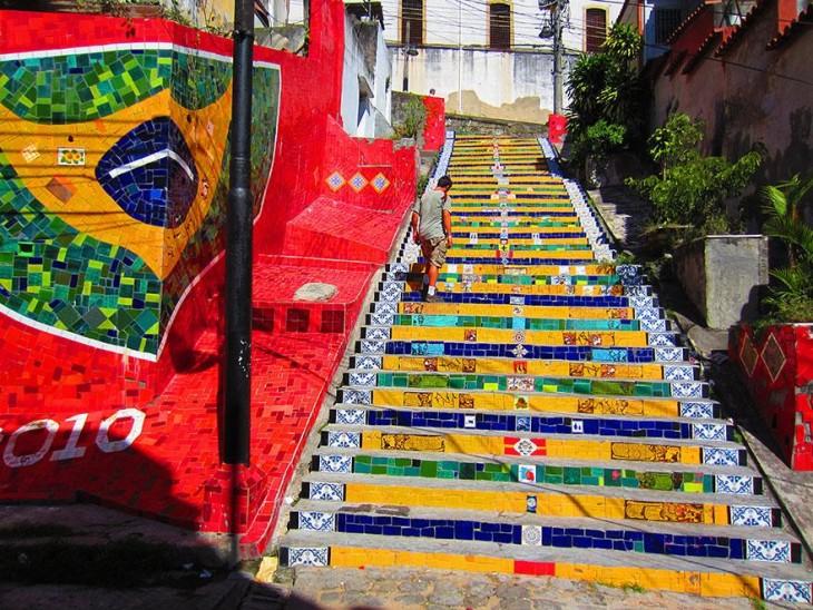 escaleras de rio de janeiro