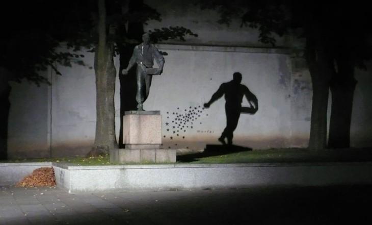 arte urbano interactuando en las ciudades