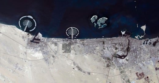 fotos satelitales dubai antes y despues