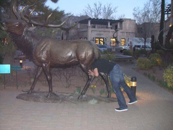 gente jugando con estatuas divertidas 5