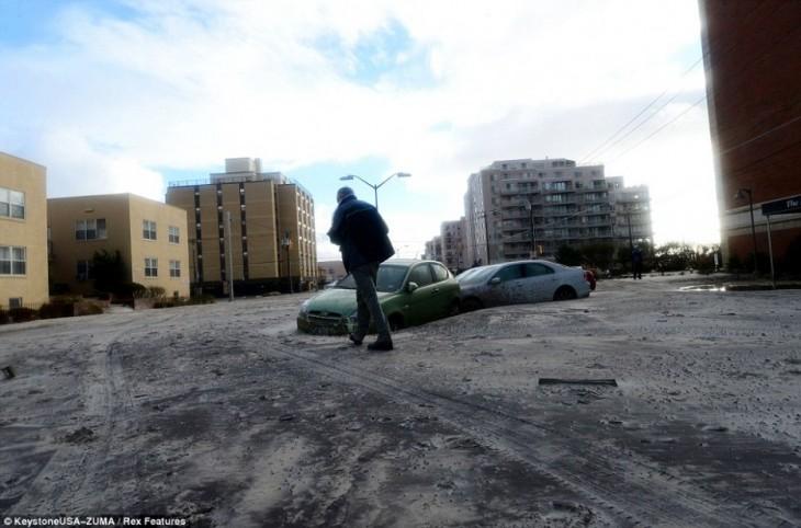 Estragos luego del huracan Sandy en Nueva York