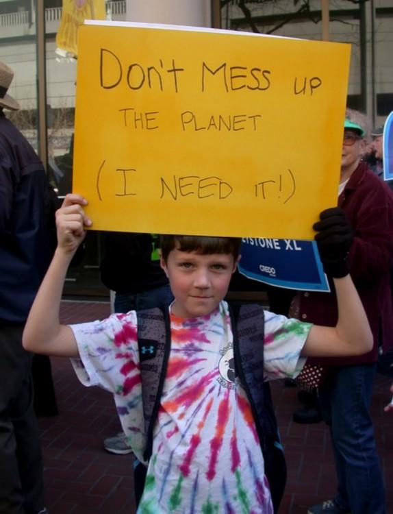 niños a favor del medioambiente