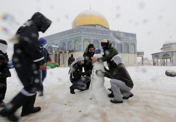 nieve en egipto y jerusalem 2013