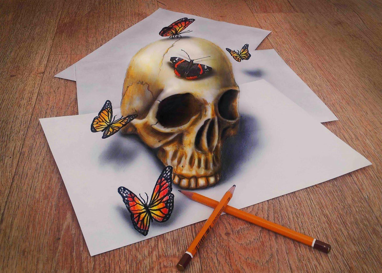 Impresionare dibujos con efecto 3d en simples hojas de papel 3d drawing website