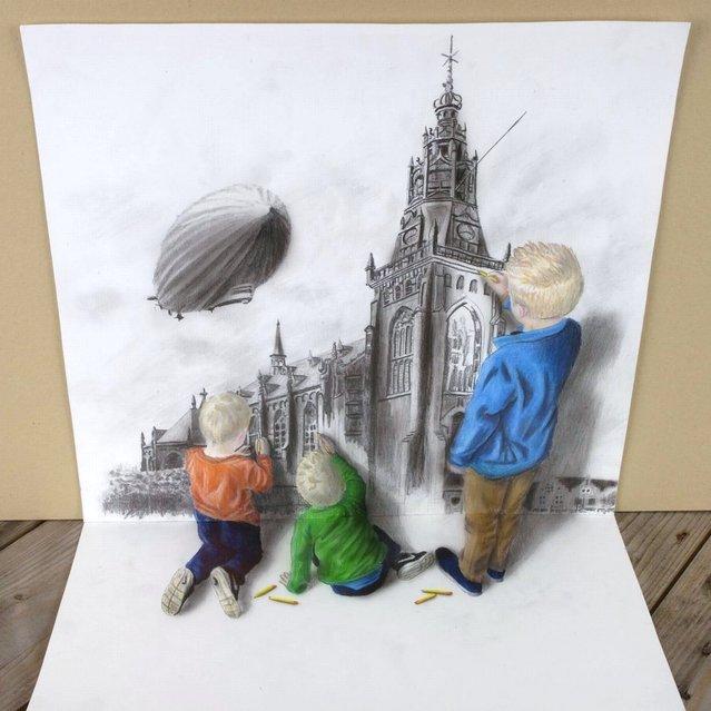 ramon bruin 3d niños pintando