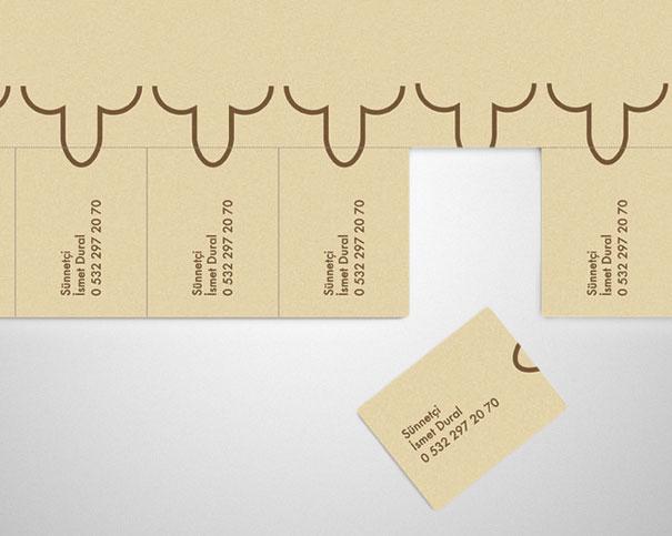 creativa tarjeta de promocion de una circunsicion