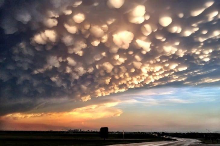 nubes que parecen palomitas