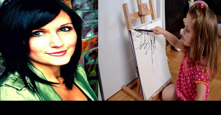 Ruth Oosterman pinta los bocetos de su hija