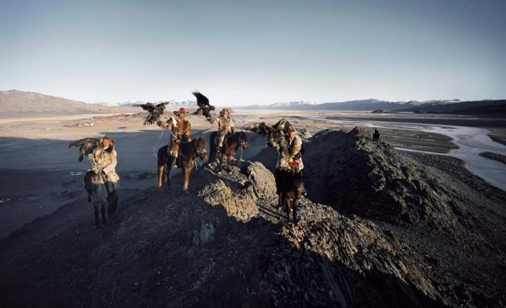 fotografía de guerreros Genghis Khan en Mongolia