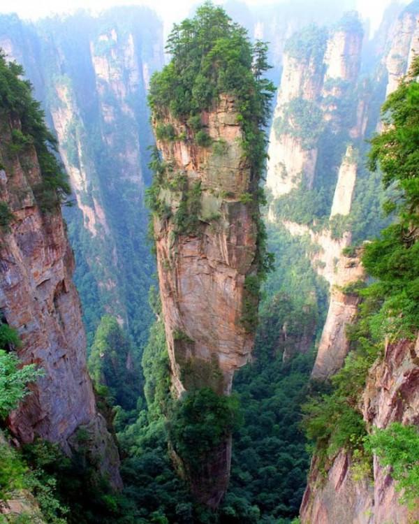 Montaña Tianzi, en China