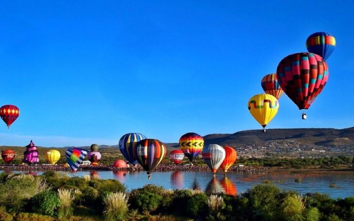 Aerostaticos en el Festival internacional del Globo, Albuquerque, Nuevo Mexico, USA