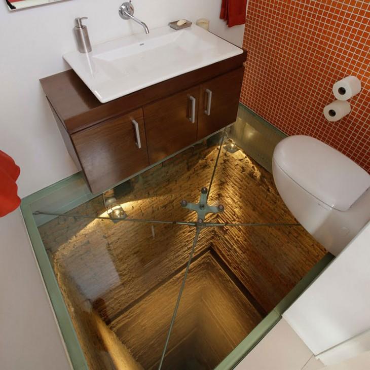 baño sin piso