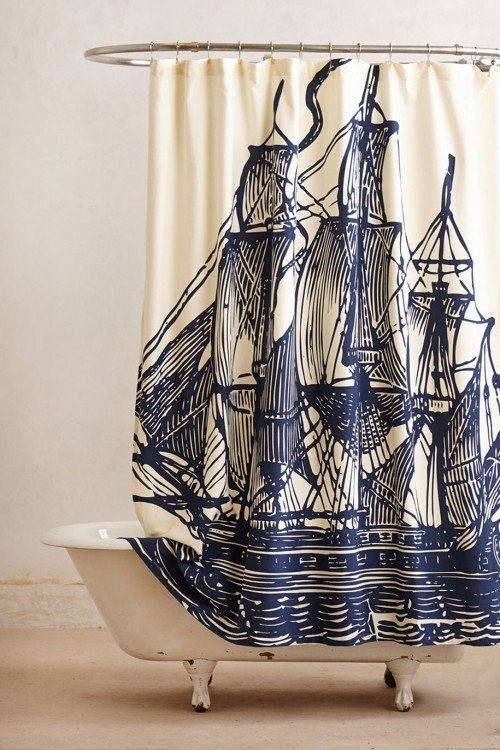 занавес пиратский корабль