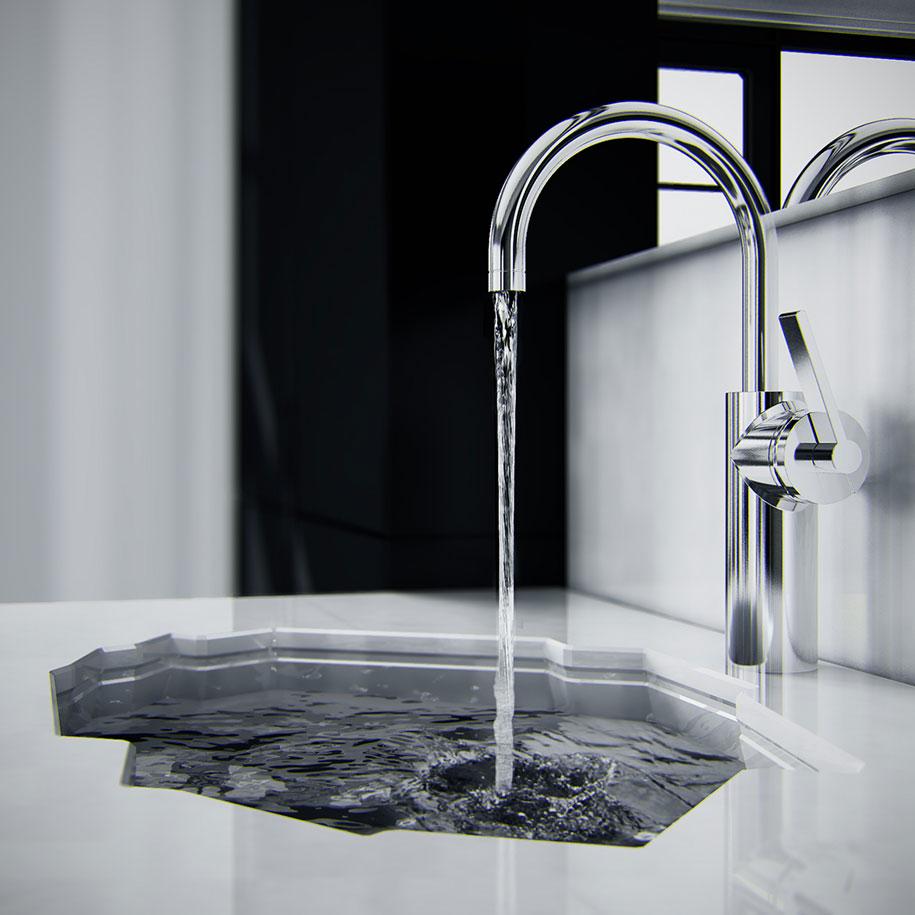 Baños Modernos Lavamanos:lavamanos moderno