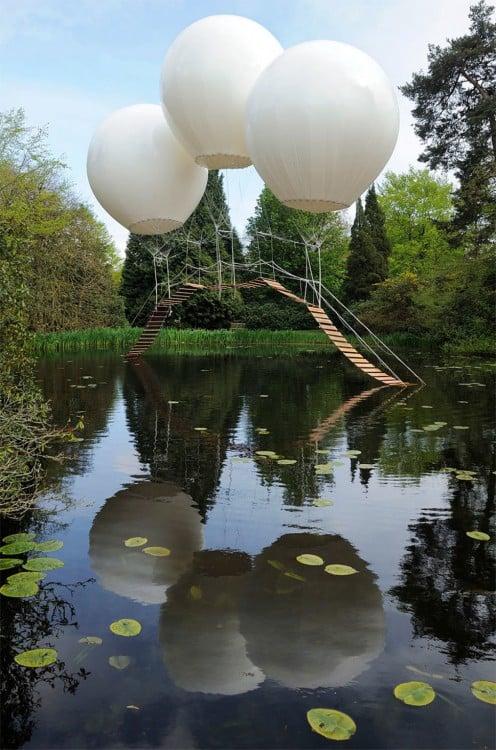 puente de globos