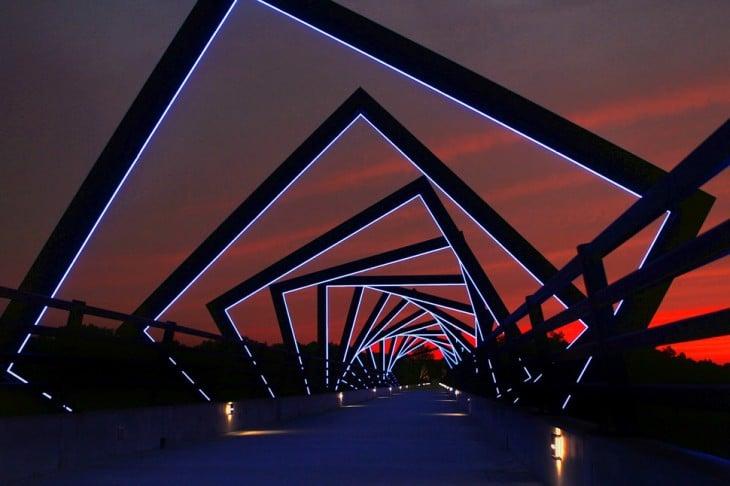 puente en forma de cuadros