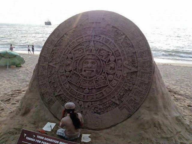 calendario azteca de arena