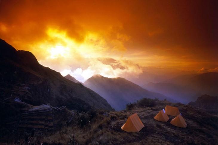 camino de inca campamento