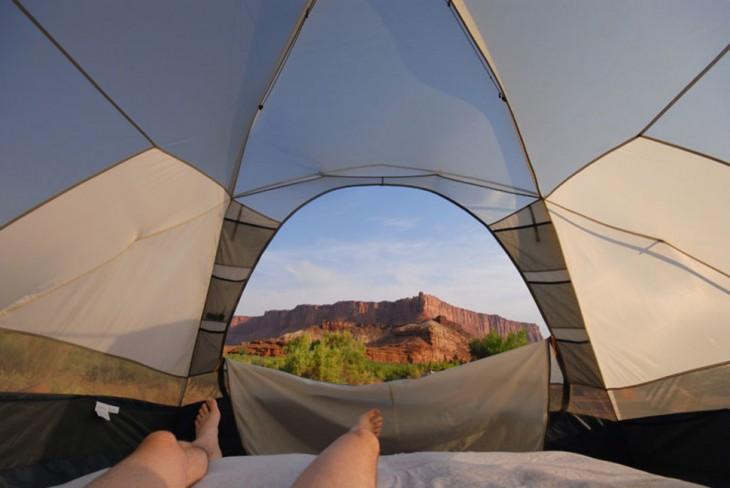 vista desde la carpa canyonland