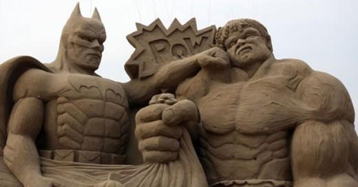 impresionantes esculturas de arena