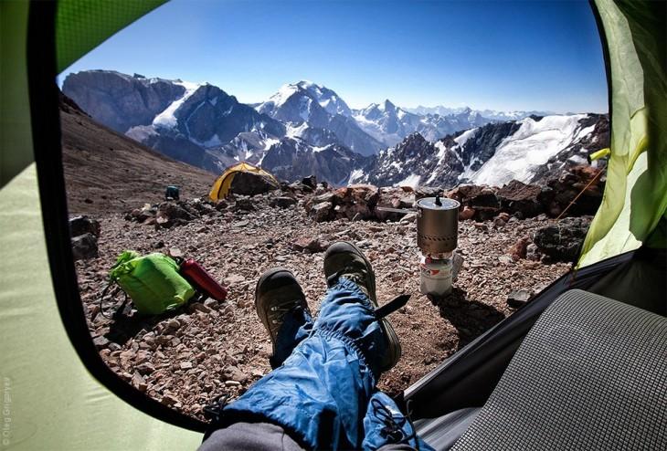 vista de las montañas chimtarga tajikistan