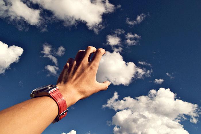 tomando las nubes