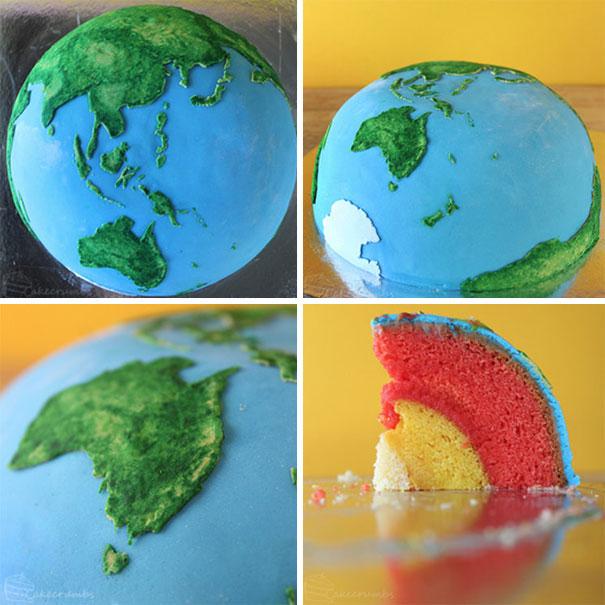 pastel de la tierra
