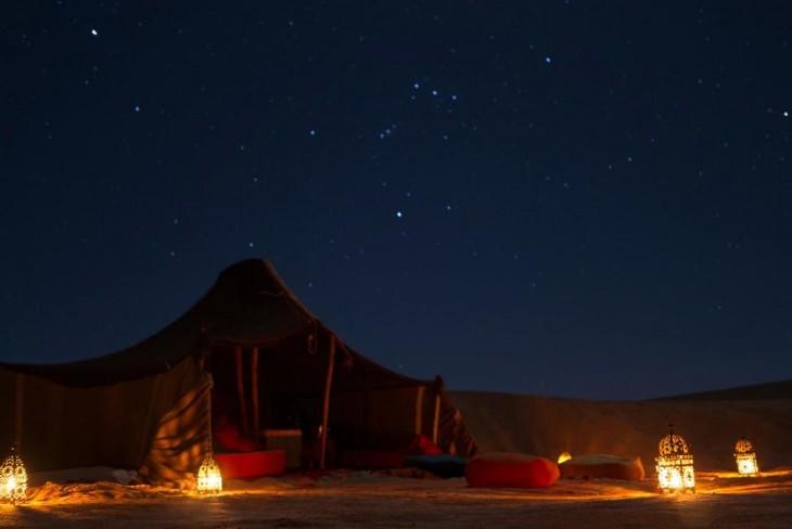 noche en decierto de sahara