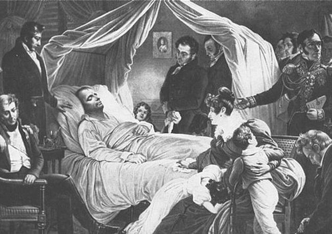 enfermo actosado con sus familiares