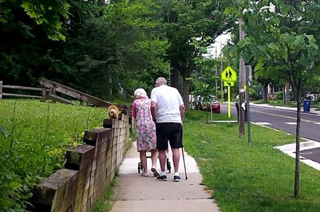 caminando al parque