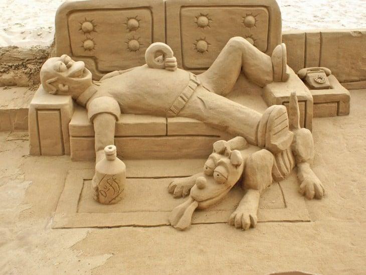 Homero simpson borracho