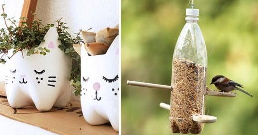 ideas creativas para reutilizar o reciclar botellas de plastico