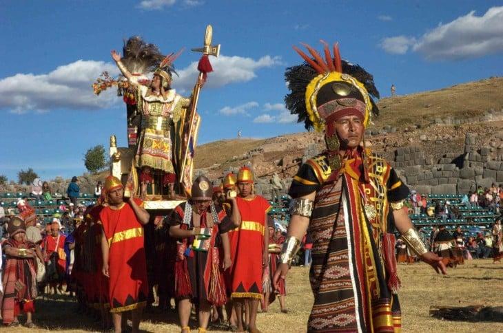 Festividad del Inti Raymi en el solstico en Perú