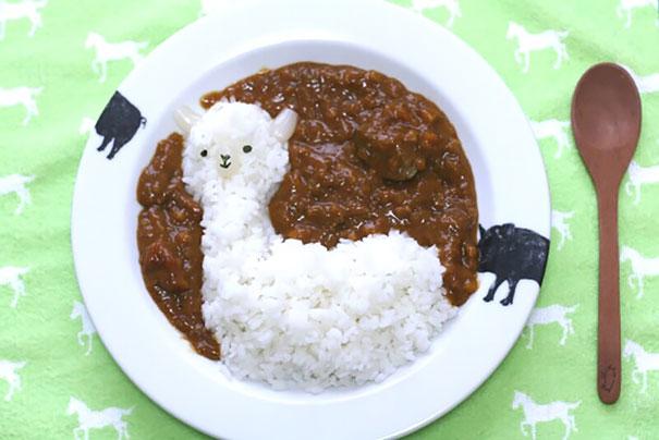 boreguito hecho de arroz