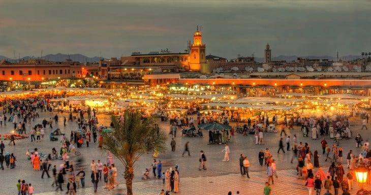 ciudad de marrakesh en marruecos
