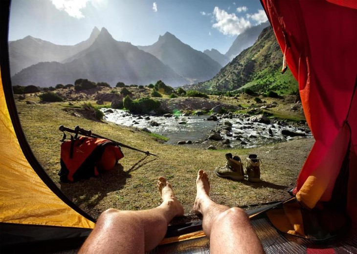 montañas en fann tajikistan