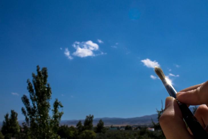 pintando las nubes