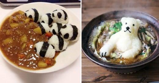 platillos de comida placenteros y creativos