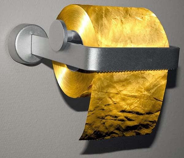 papel de baño en oro