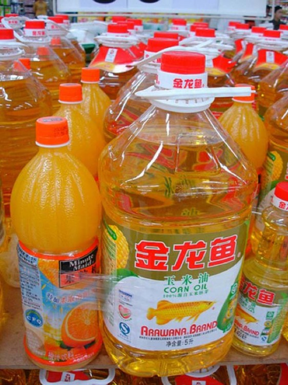 jugo de naranja y aceite