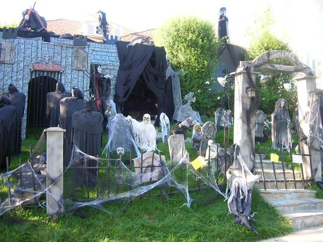 jardin transformdo en un cementerio