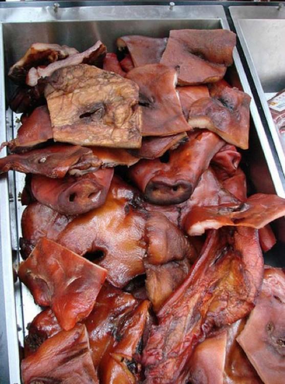 piel y cara de cerdo