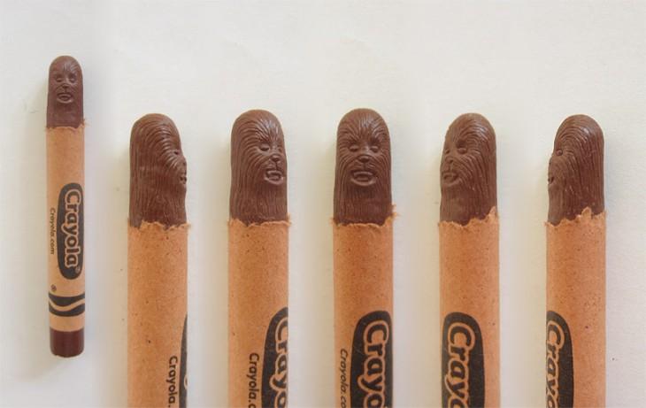 Crayola con la cabeza de Chewbacca