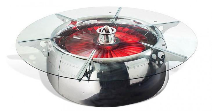 Mesa con el diseño de ruleta rusa