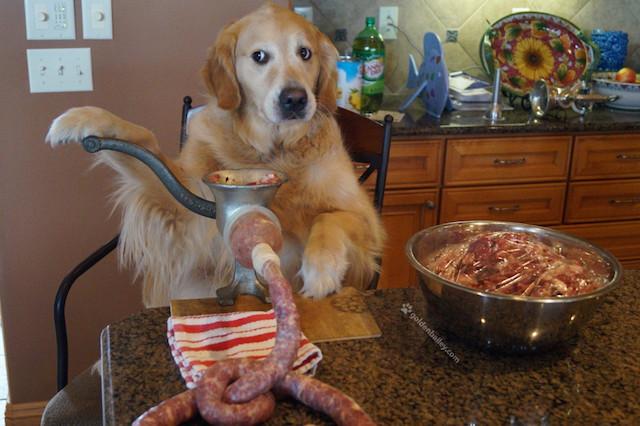 trabajando en la cocina