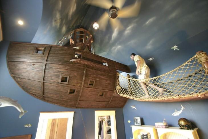cuarto en forma de barco